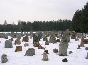 """В концентрационния лагер Треблинка са унищожени над 800 000 души. Сред тях са и повечето от депортираните 11 363 евреи от """"новите земи""""."""