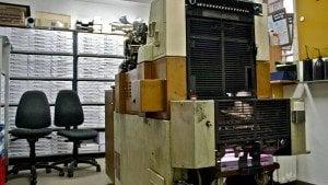 Модерните технологии трудно стигат до затворническата преса. Снимката е предоставена от Биляна Михайлова.