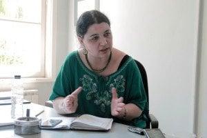 Теодора Крумова. Дискусия за Десетилетието на ромското включване. Снимка: CC-BY Светла Енчева.