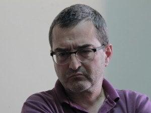 """Румен Петров. Дискусия на """"Маргиналия"""" за образованието. Снимка: Светла Енчева."""