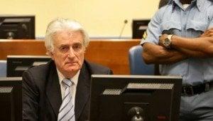 Бившият лидер на босненските сърби Радован Караджич в съдебната зала на Хагския трибунал. Снимка: ICTY.