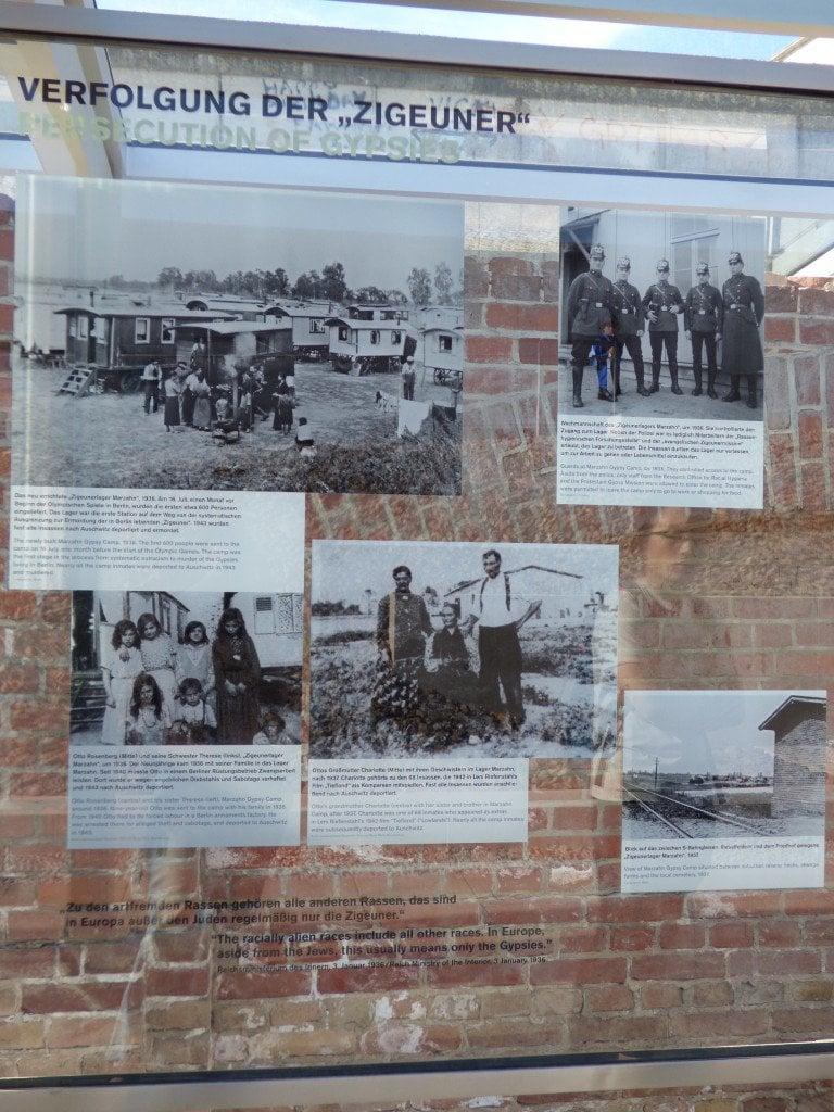 """""""Преследването на циганите"""": част от мемориалния комплекс """"Топография на терора"""" в Белрин, който е посветен на жертвите на националсоциализма и социалистическия режим."""