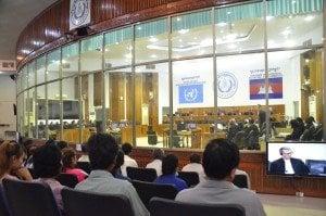 Произнасяне на присъдата на Нуон Чеа и Киеу Сампан на втора инстанция. Снимка: ECCC (Трибунала за Камбоджа).