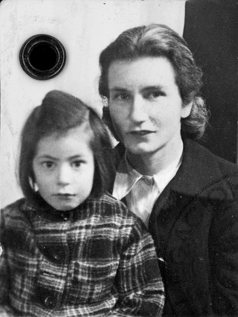 MIRIAM FRANK WITH HER MOTHER 1